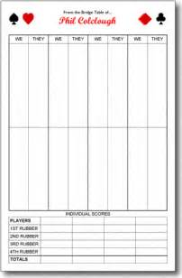 bridge tally template duplicate bridge scoring sheets