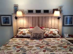Pallet Bed With Lights Cozy Pallet Headboard Ideas Pallet Wood Projects