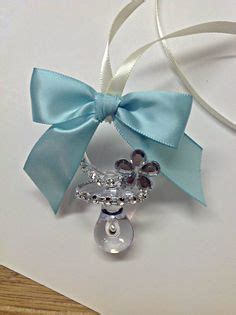Fr Baby Blue Chocker Sabrina themed baby shower pacifier necklace by s craft don t say word baby shower