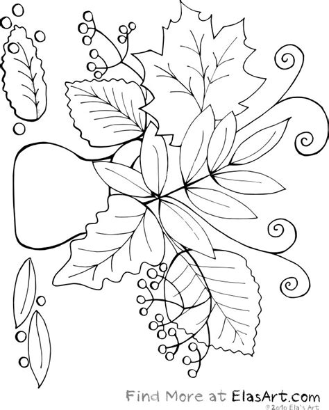 coloring pages of fall flowers fall coloring pages fall vase