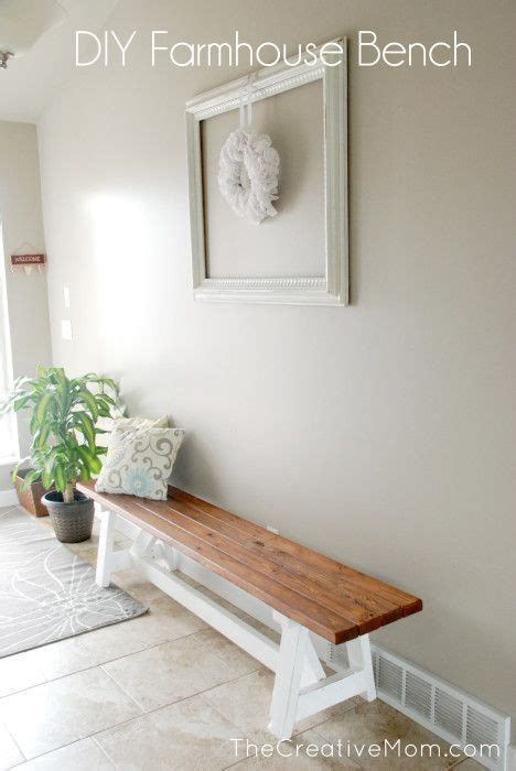diy farmhouse benches hgtv diy project farmhouse bench the home depot stains and single wide
