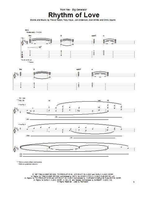 swing to the rhythm of love chords rhythm of love by yes guitar tab guitar instructor