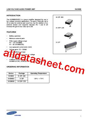 datasheet capacitor samsung ka386 datasheet pdf samsung semiconductor