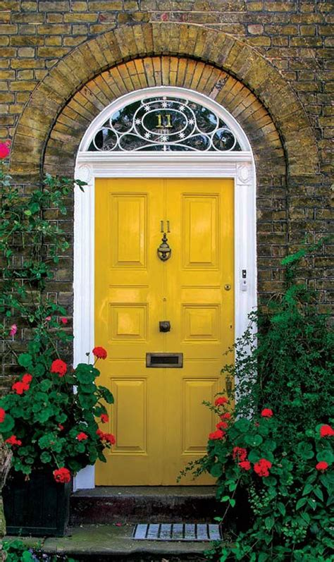 yellow front door 30 inspiring front door designs hinting towards a happy