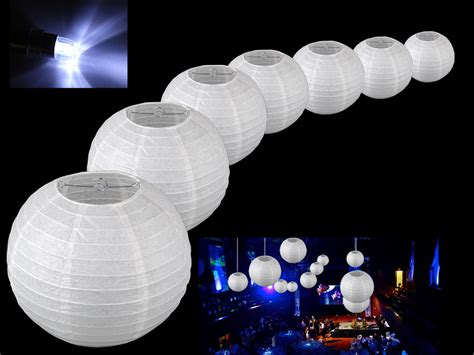 led lights for paper lanterns with lot 10 10 round paper lantern w led white light wedding
