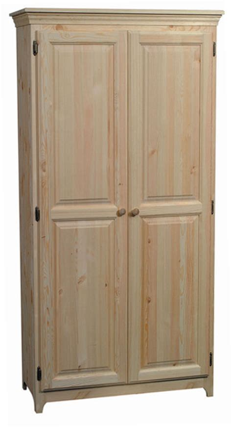 unfinished kitchen pantry cabinets sale solid pine pantry arch571 westchester woods