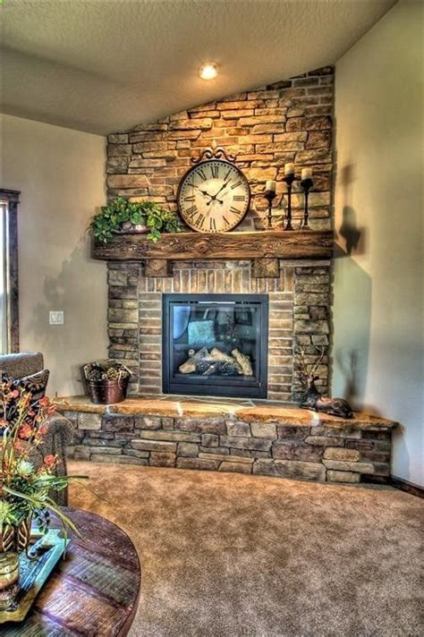 Rooms With Corner Fireplaces by And Brick Fireplace This Would Look Awesome In The