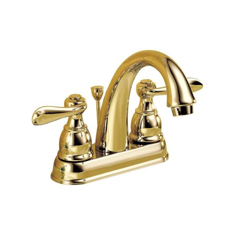 faucet 25996lf pb in brilliance polished brass by delta
