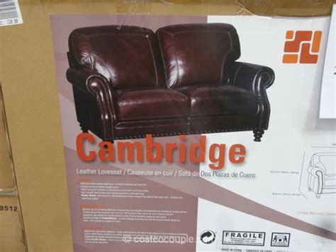 simon li cambridge leather loveseat