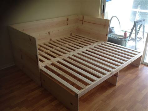 build futon pull out sofa bed built by handy harry pinterest