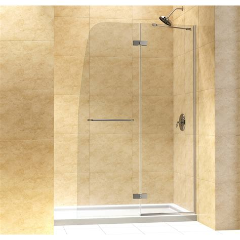 Frameless Hinged Glass Shower Doors Dreamline Aqua Ultra 72 Quot X 45 Quot Pivot Frameless Hinged Shower Door Reviews Wayfair
