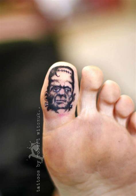 bottom tattoo designs frankenstein bottom toe