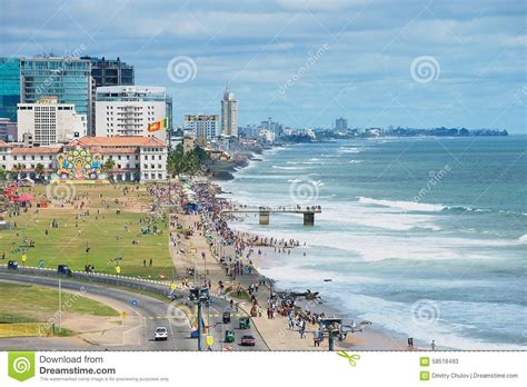 Of Wales Mba In Sri Lanka by View To The Seaside In Downtown Colombo Sri Lanka