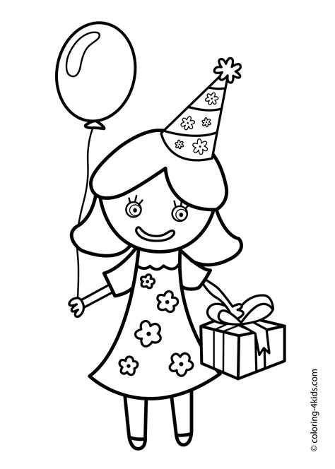 birthday party coloring pages u coloring pages for kids