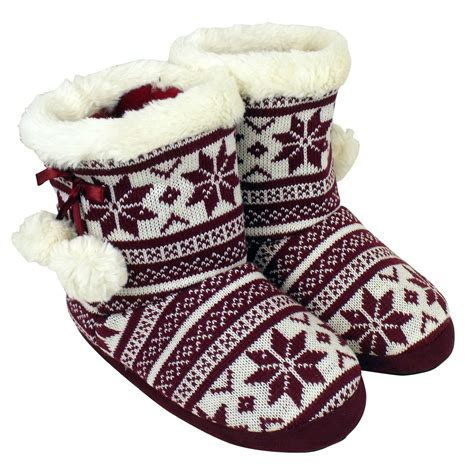 house boot slippers womens quality eskimo bootee ankle boot slippers
