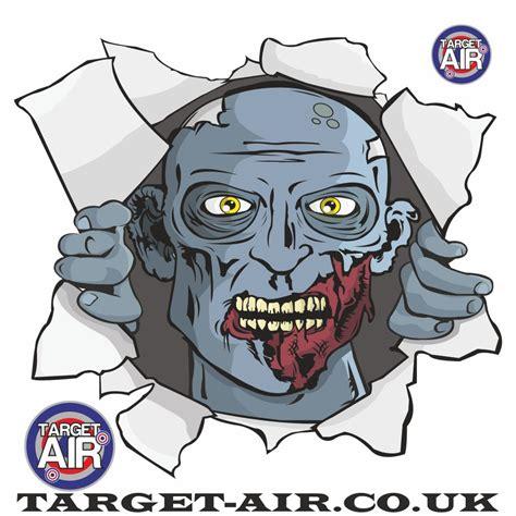 printable zombie head targets zombie blue head airsoft bb gun shooting targets