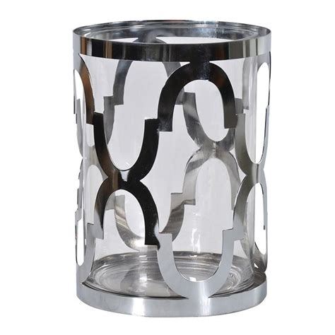 Hurricane Vase Candle Holder by Silver Hurricane Vase Candle Holder