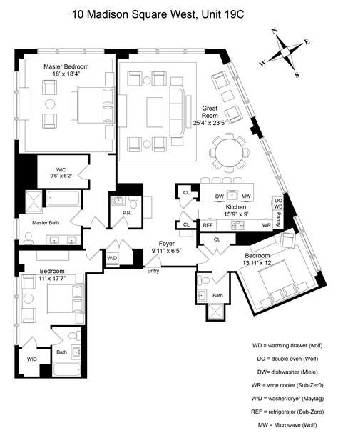 10 madison square west floor plans 10 madison square west floor plans thefloors co