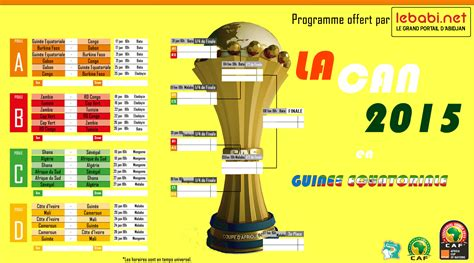 Calendrier Can 2015 Maroc Can 2015 Comment Les 16 Qualifi 233 S Se Pr 233 Parent Lebabi
