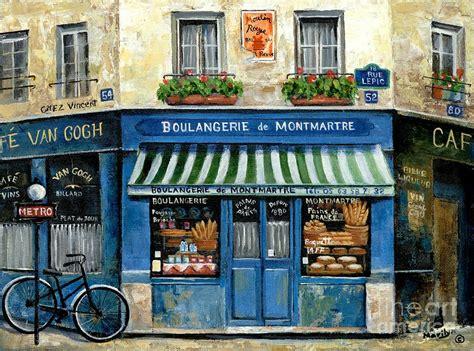 boulangerie de montmartre painting by marilyn dunlap