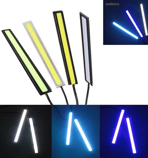 Led Bright 1pcs ultra bright led daytime running lights dc 12v 14cm 100 waterproof auto car drl cob