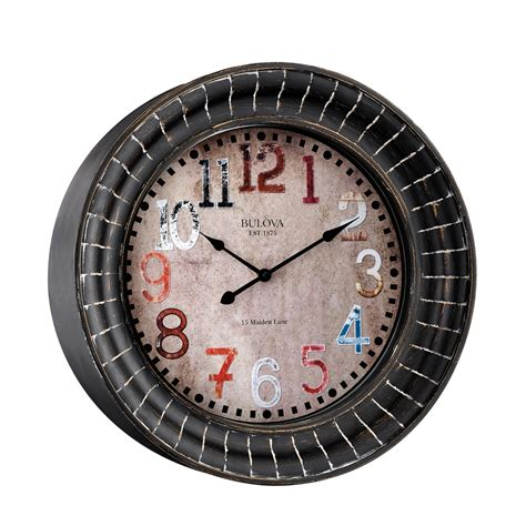 decorative wall clocks paris 17 75 quot decorative wall clock bulova c4824