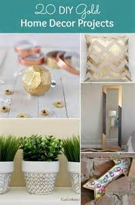 home diy decor 20 diy gold home decor projects