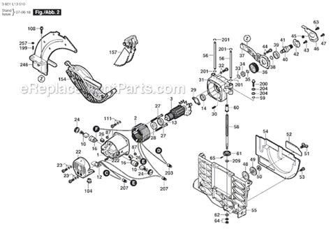bosch 4100 09 parts list and diagram 3601l13010