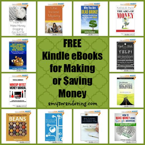 Books On Making Money Online - free kindle ebooks for making or saving money amy s