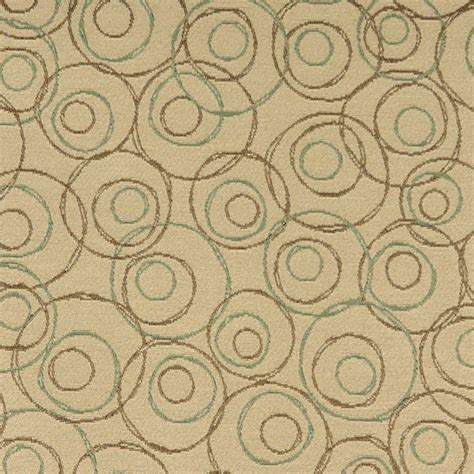 most durable upholstery fabric beige brown and green overlapping circles durable