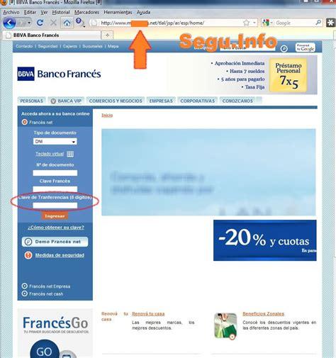 banco frances phishing a banco franc 233 s argentina seguridad inform 225 tica