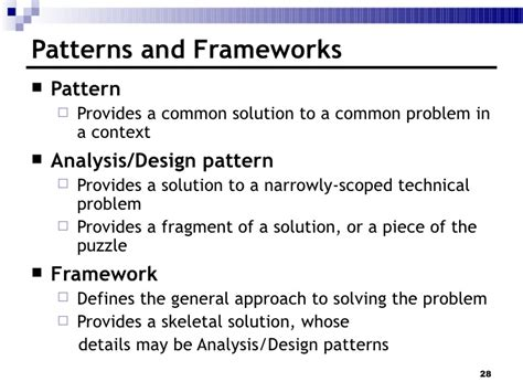 pattern definition in ooad 3 analysis and design overview