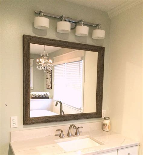 rustic reclaimed wood mirror home decor bathroom or