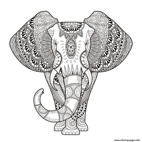 coloring pages adults zen print elephant for adult hard difficult zen anti stress