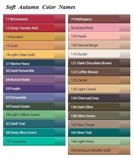 cool color names названия цветов в палитрах красота вдохновленная