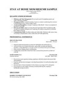resume template stay at home how to write a stay at home resume resume genius