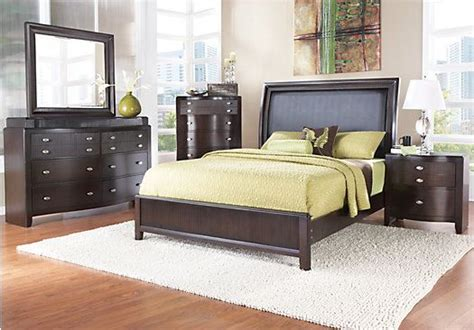 shop for a hill king espresso 5pc panel bedroom at