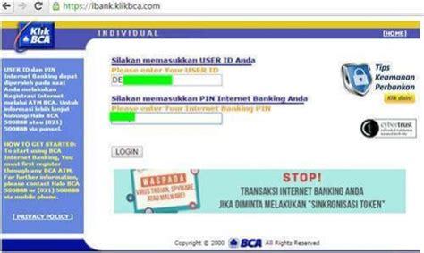 syarat membuat rekening bca diluar kota bca individual layanan internet banking dari bank bca