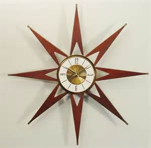 Midcentury Modern Art - mid century modern starburst clock by elgin atomic sunburst
