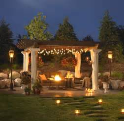 Outdoor Lighting Fixtures For Gazebos Pergolas A Change Of Space