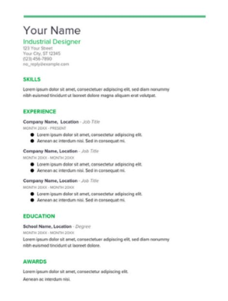 The 17 Best Resume Templates Fairygodboss Docs Resumes Templates