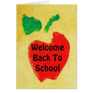Welcome Back Teacher Cards Welcome Back Teacher Card Templates Postage Invitations Welcome Home Card Template