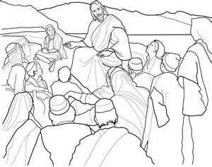 Sermon On The Mount Coloring Page » Home Design 2017