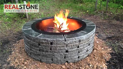 granit feuerstelle how to install a realstone granite pit