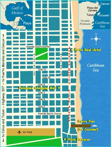 printable map playa del carmen map of playa del carmen