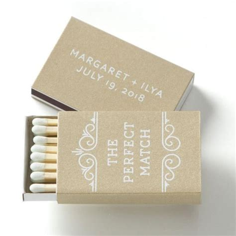Wedding Box Of Matches by The Match Personalized Match Boxes 25 Wedding