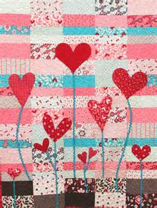 Heart strings quilt 48 x 60 quot free pattern by marie cole for henry