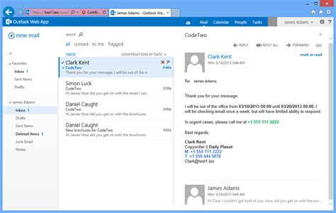 codetwo out of office manager screenshots