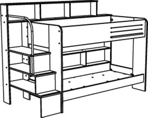 Bunk Bed Drawing How To Draw Bunk Beds