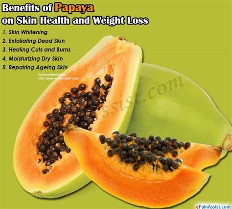 Papaya For Health And by Benefits Of Papaya On Skin Health And Weight Loss